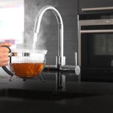 Een betaalbare kokend waterkraan van Floww